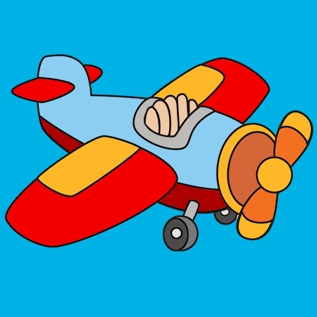 Coloriage petit avion a imprimer g pinte - Avion imprimer ...