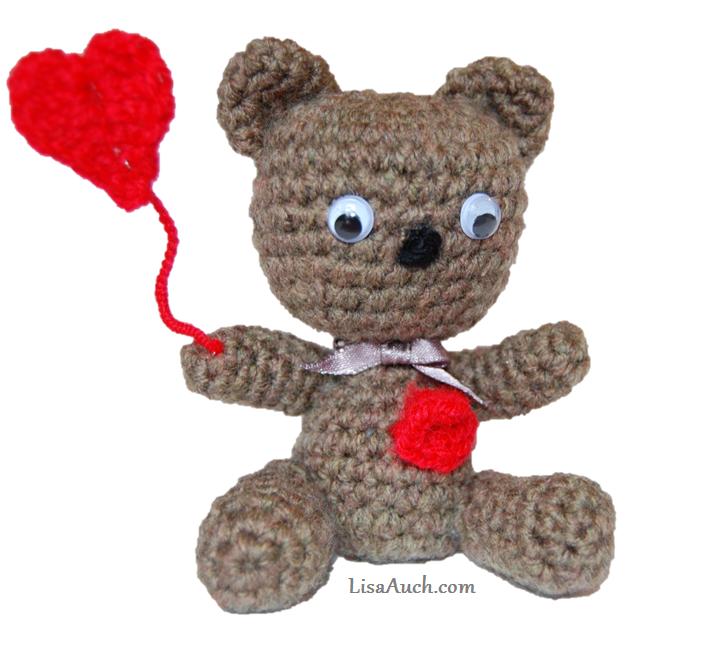 Valentine Heart Teddy Bear Amigurumi Kostenlose Häkelanleitung ... | 650x713