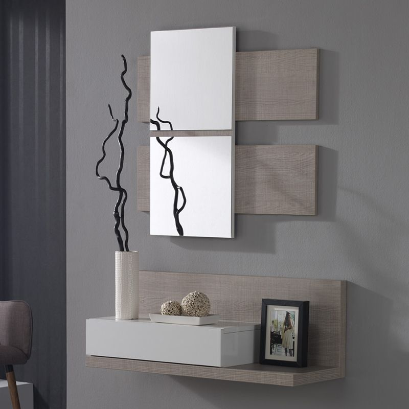 Meuble D Entree Avec Miroir Moderne Veraty Meuble Entree Entree Moderne Deco Entree Maison