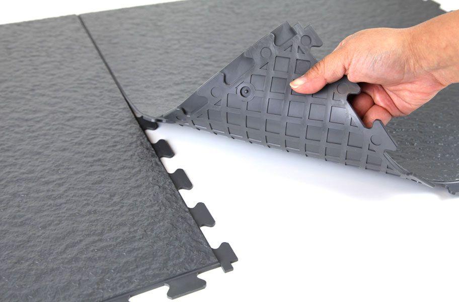 Slate Flex Tiles Modular Garage Flooring System Garage Floor Shed Floor Covering Ideas Garage Flooring Options