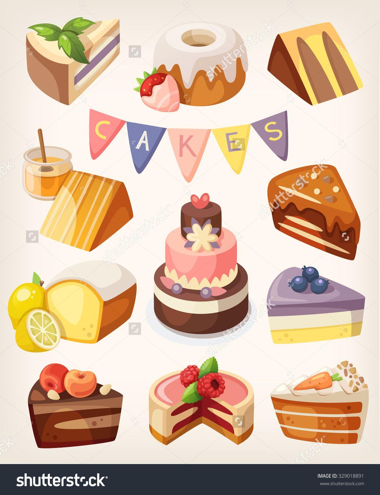 Slice Of Cake On Plate Pop Art Vector Illustration Pop Art Food Pop Art Pop Art Images