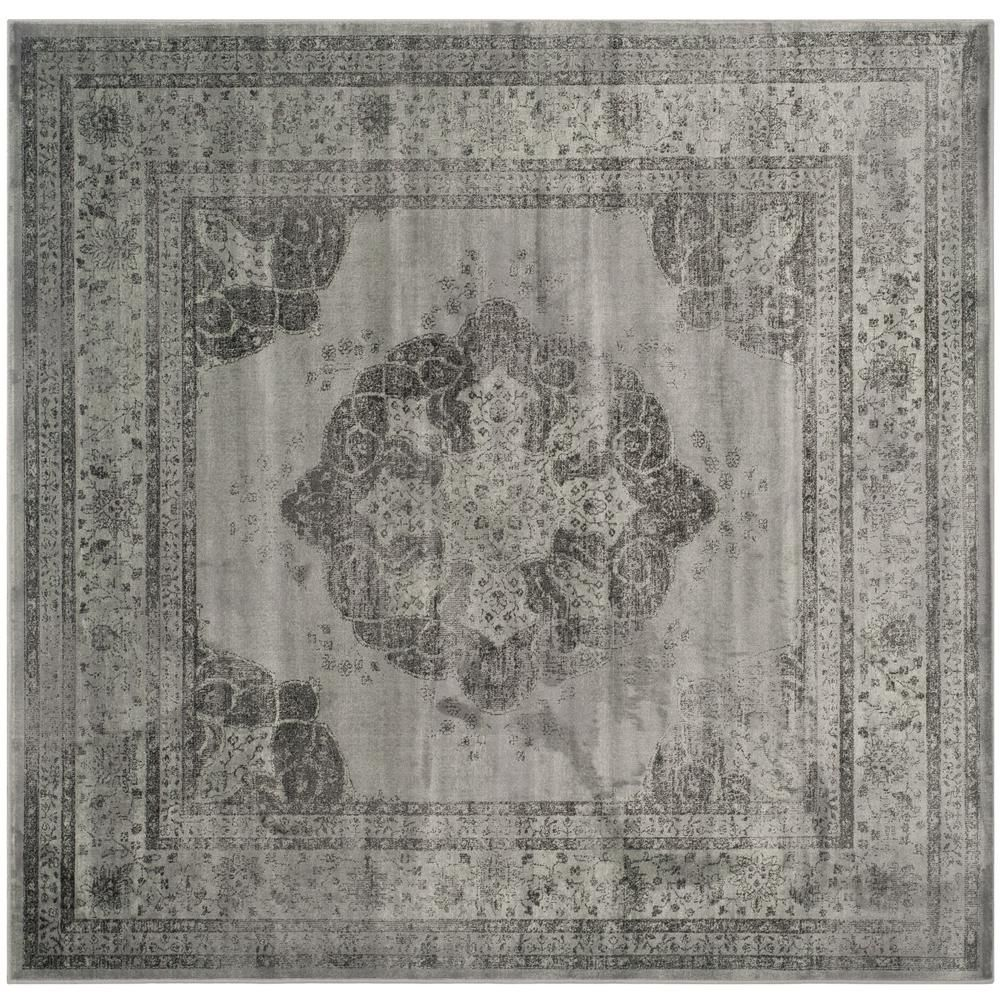 Safavieh Vintage Gray/Multi 8 ft. x 8 ft. Square Area Rug
