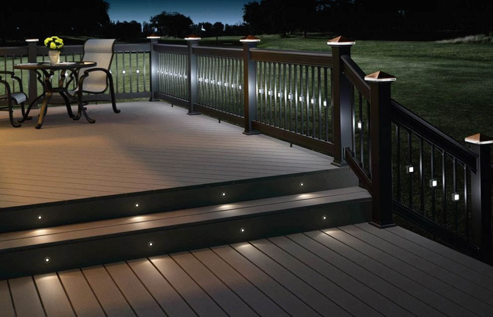 Backyard Recessed Deck Lighting Fabulous