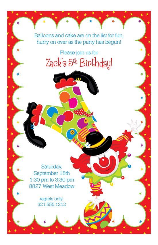 Party Clown Invitation