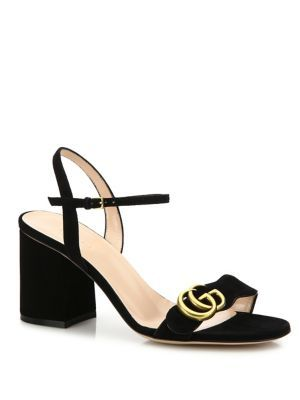 8324f1a764a GUCCI Marmont Suede Block-Heel Sandals.  gucci  shoes  sandals ...