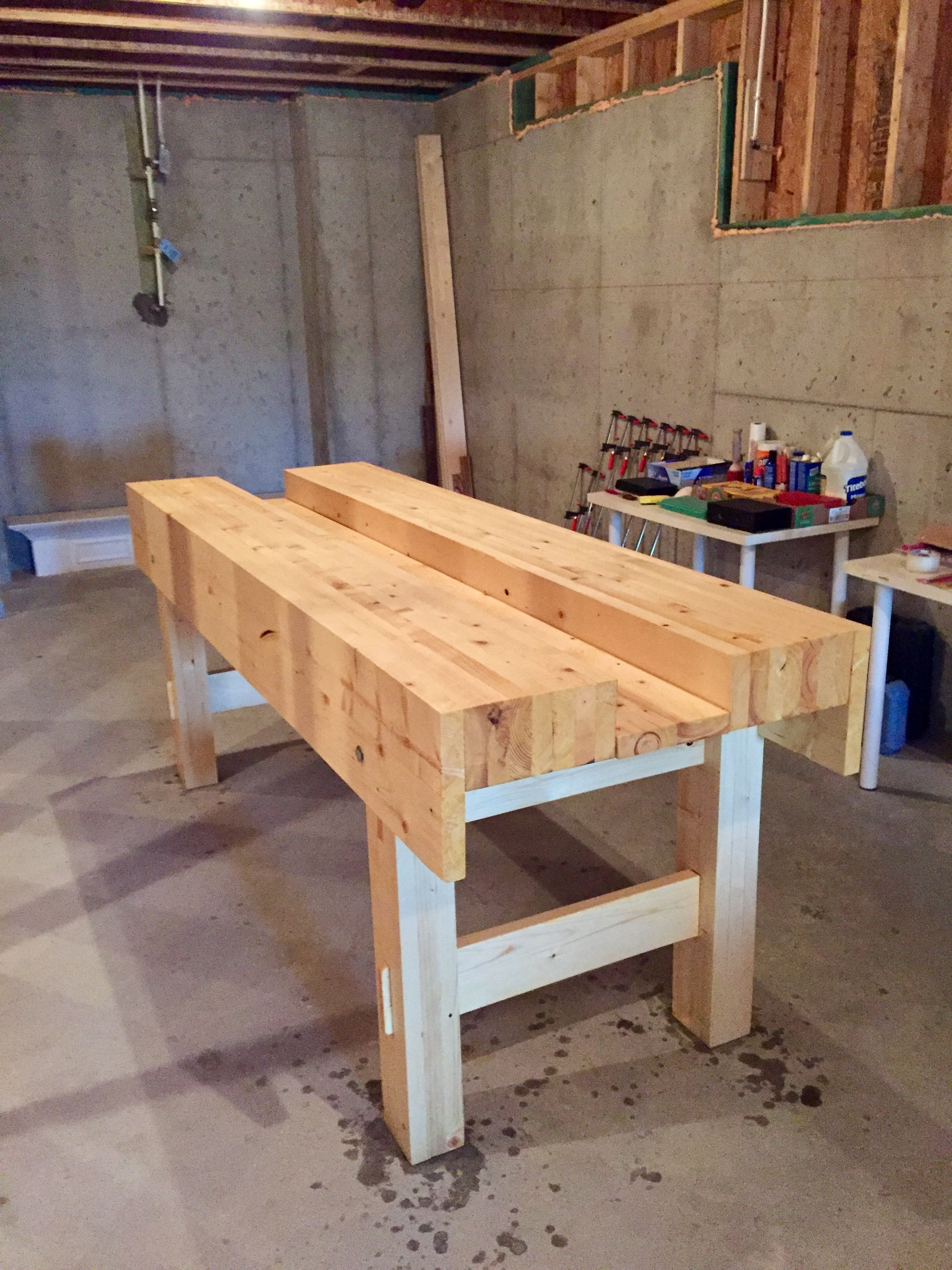 pinbig woodworks on woodworking bench | woodworking
