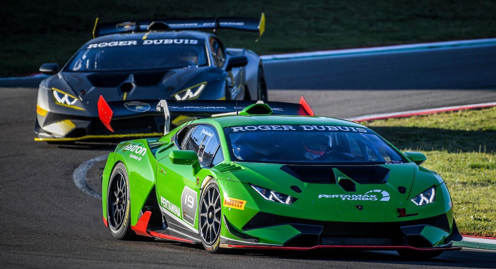 Lamborghini Huracan Super Trofeo Evo Debuts At Sepang Race Carscoops Lamborghini Huracan Lamborghini Lamborghini Cars