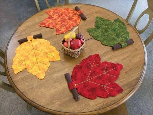 Folhas De Outono Jogo Americano Patchwork Jogo Americano Artesanato Para Cozinha