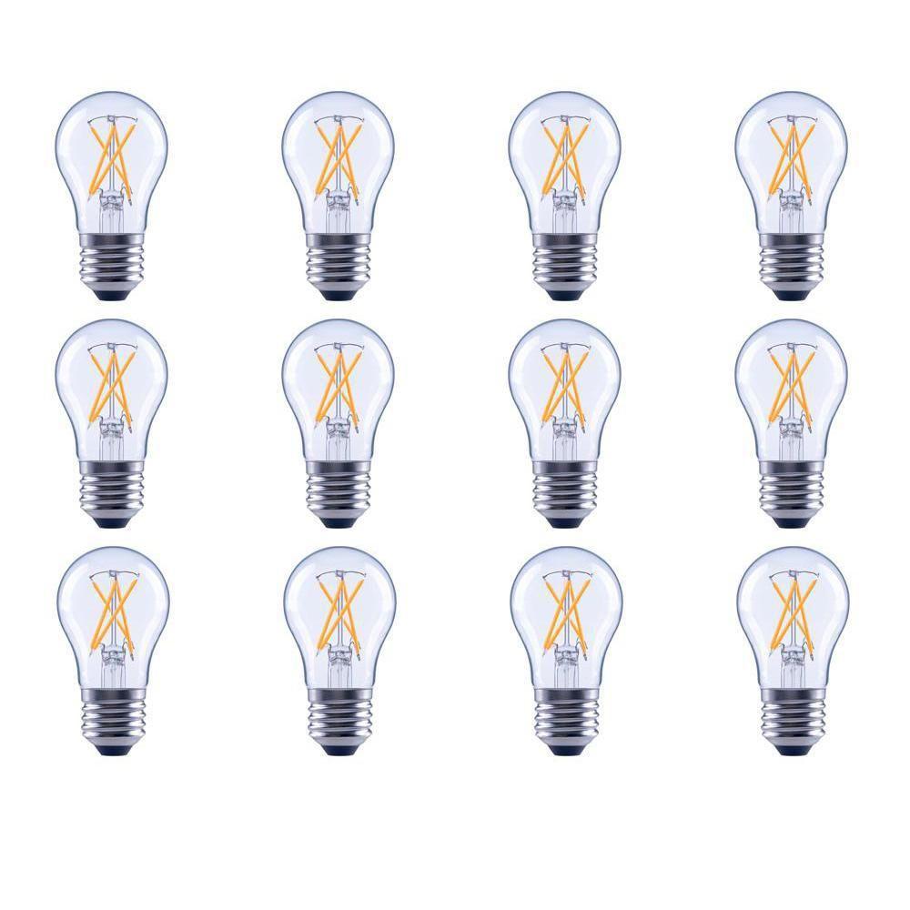 Ecosmart 40 Watt Equivalent A15 Dimmable Energy Star Clear Filament Vintage Style Led Light Bulb Daylight 12 Pack Bulb Light Bulb Edison Led