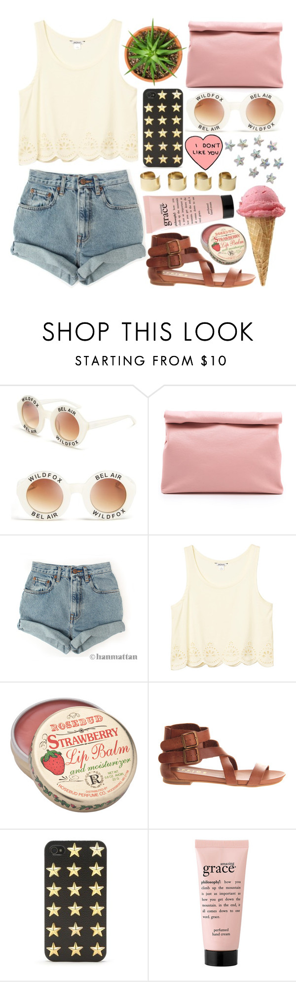 """""""trying to be cool"""" by silvanacavero ❤ liked on Polyvore featuring mode, Wildfox, Marie Turnor, Levi's, Monki, Office, With Love From CA, philosophy en Maison Margiela"""