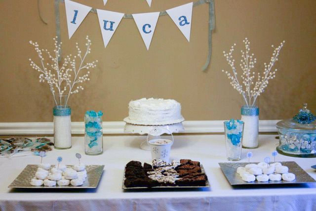 Winter Wonderland Snowflake Baby Shower Party Ideas Snowflake Baby