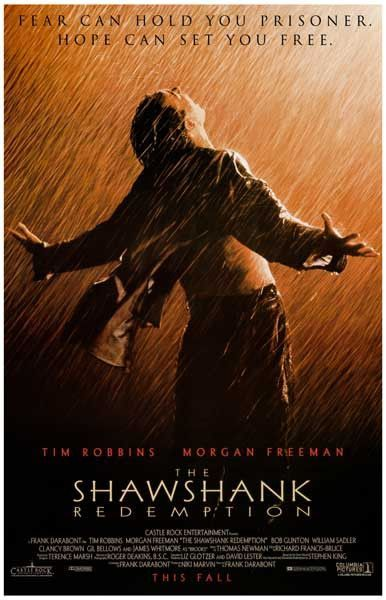 Shawshank Redemption Fear Can Hold You Movie Poster 11x17