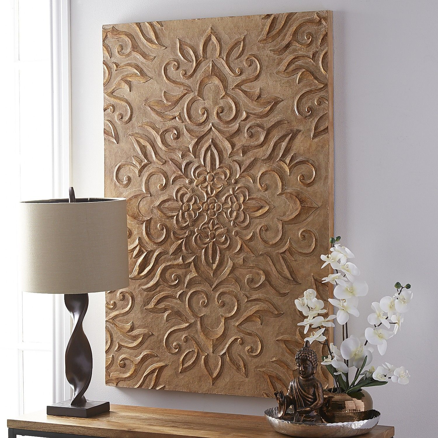 Carved medallion wall panel wall paneling unique wall