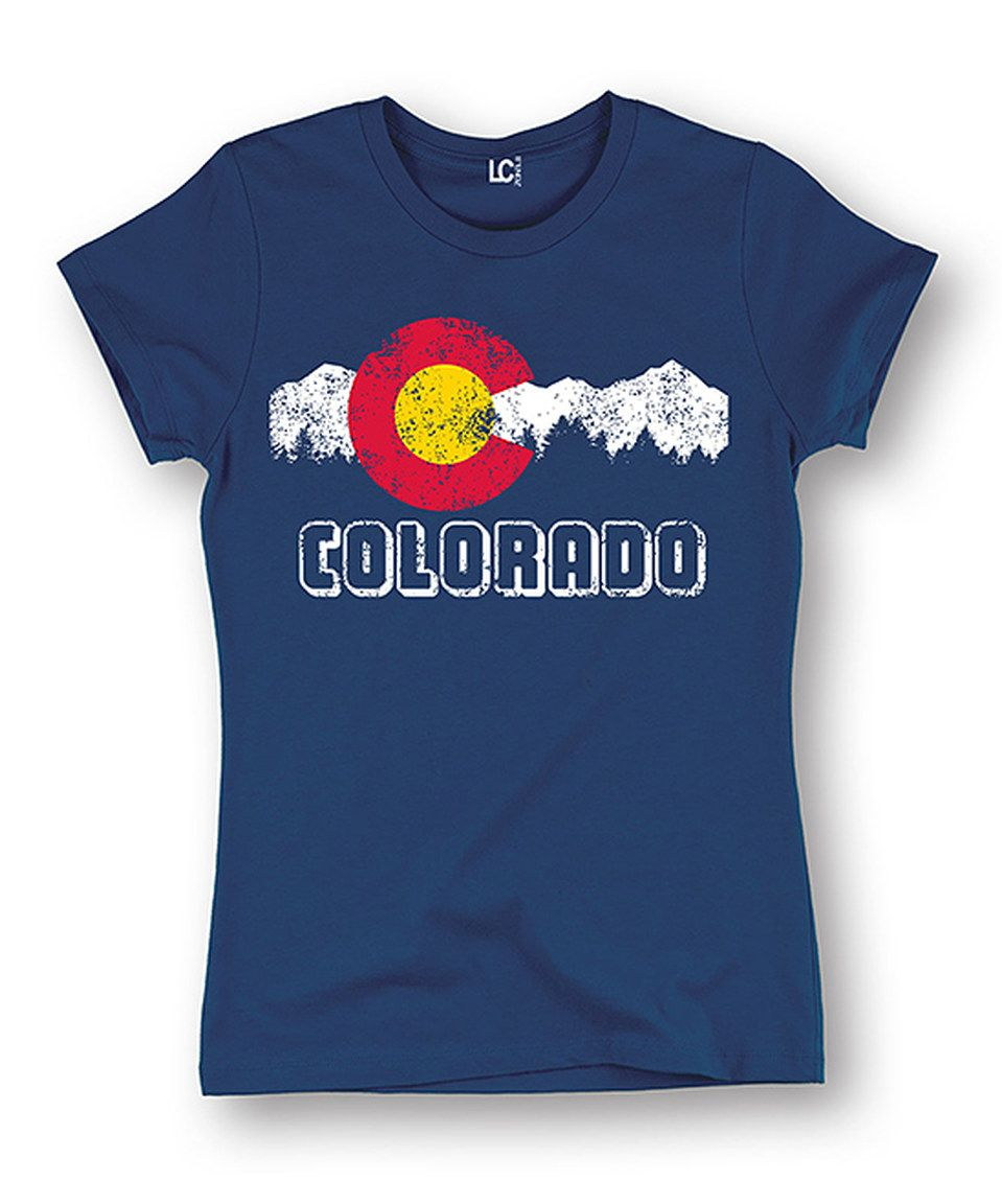 Look at this #zulilyfind! Navy 'Colorado' Flag Fitted Tee - Women by LC Trendz #zulilyfinds