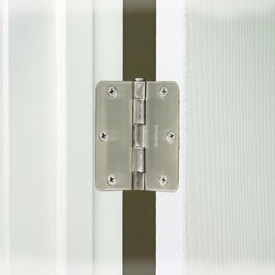 Everbilt 3 1 2 In X 1 4 In Radius Satin Nickel Door Hinge 14985 Door Hinges Home Depot Interior Door Hinges