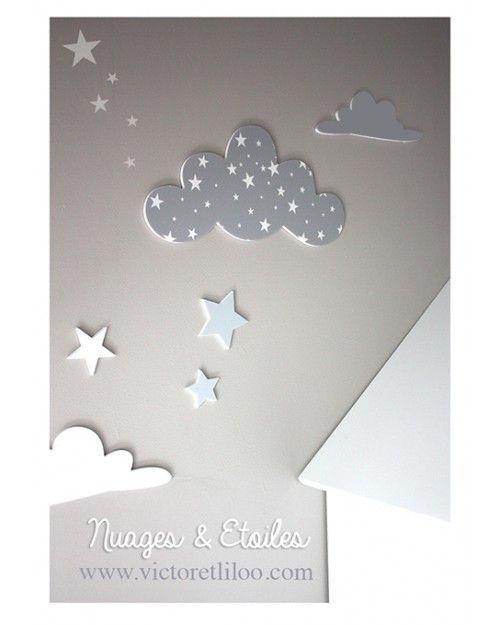 stickers nuages toil s x2 diy pinterest. Black Bedroom Furniture Sets. Home Design Ideas