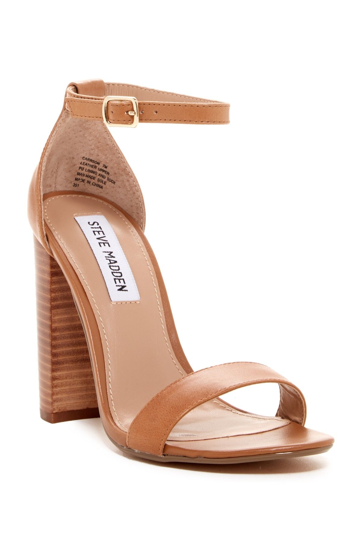 A must-have for summer! An elegant pair of Steve Madden sandals that will go with any work outfit, or date night dress.