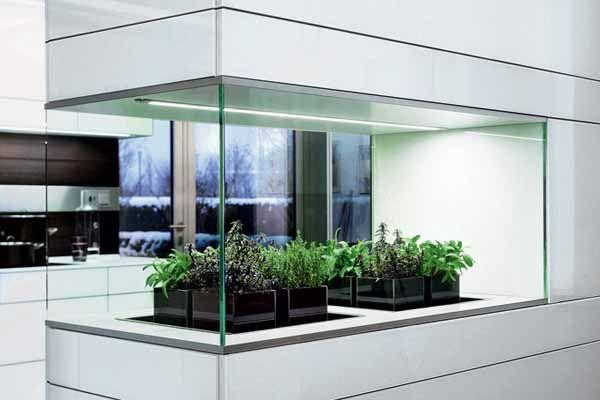 Contemporary Kitchen Modern Kitchens Indoor Garden 2 Bio