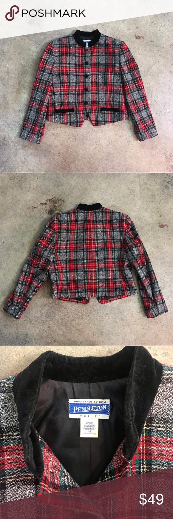 Vintage 1990s Stitches Australia Ladies Jacket Houndstooth Fabric Size 18