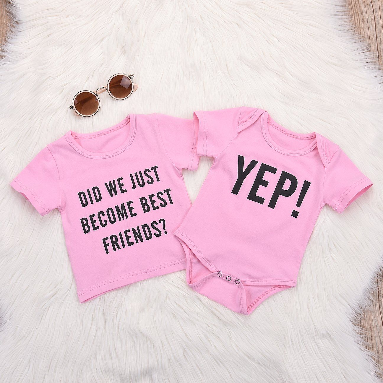 cf82cded39d0 Matching tee and bodysuit Soft cotton blend Short sleeves Baby Clothes  Online