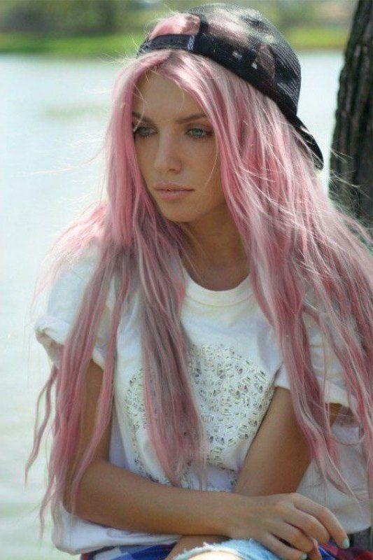 Rosa Haare Pastelltöne Frisuren Pastellrosa Haare