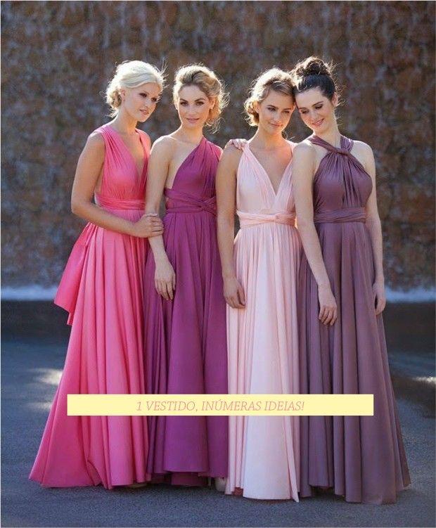 VESTIDO DE FESTA VERSÁTIL! Genial! Infinity Dress/ Convertible wrap dress- Fashionismo  http://www.fashionismo.com.br/2015/03/infinity-dress-vestido-de-festa-versatil/