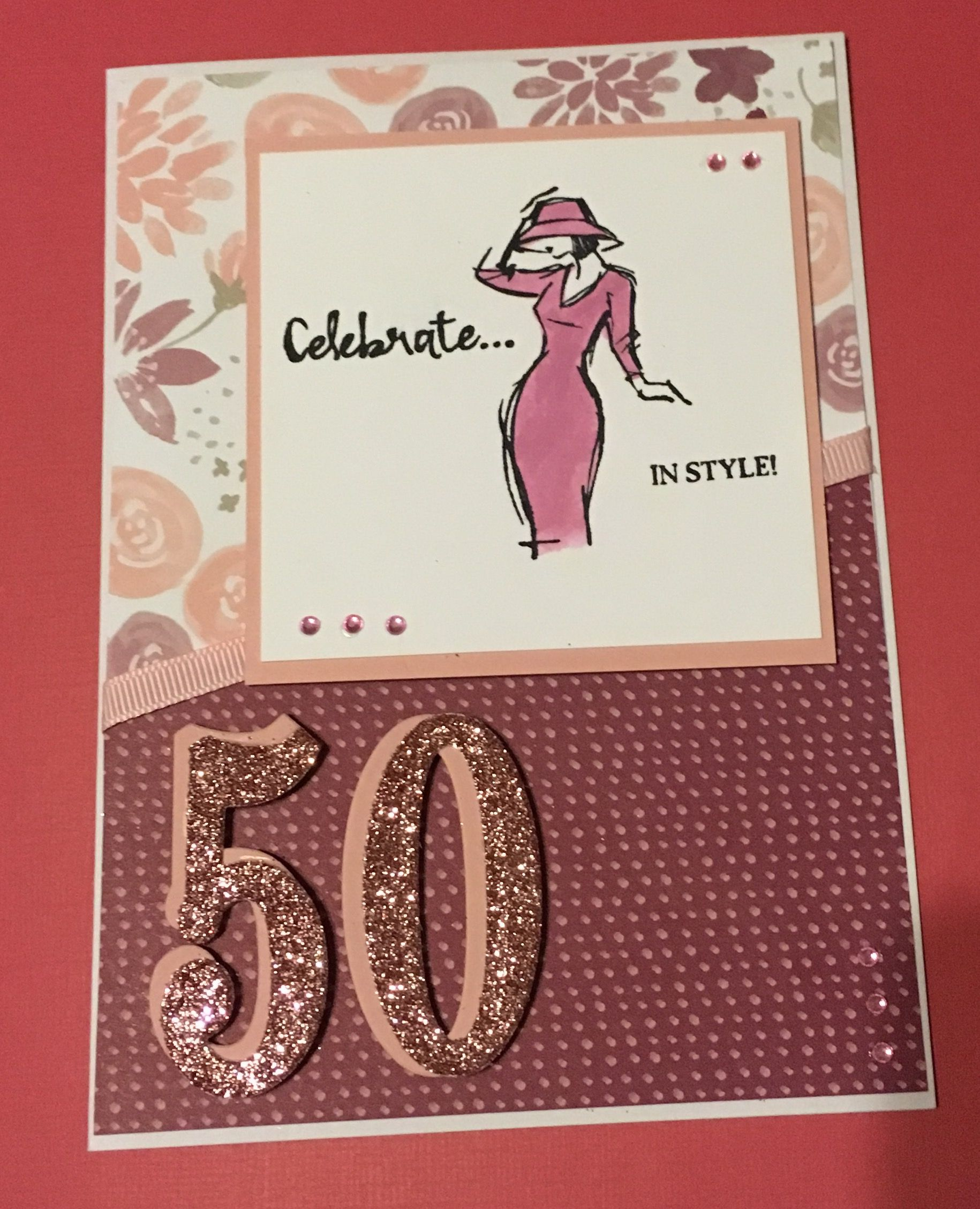 Stampin Up Beautiful You 50th Birthday Card 50th Birthday Cards Birthday Cards For Women Happy Birthday Cards