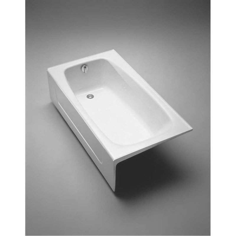 Toto FBY1525RP 5 Foot Cast Iron Three Wall Alcove Soaking Tub With Right  Hand Dr Cotton