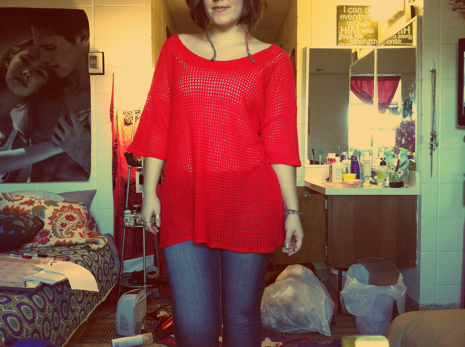 Vintage cherry red sweater. $15.00 | Fashion | Pinterest | Red ...