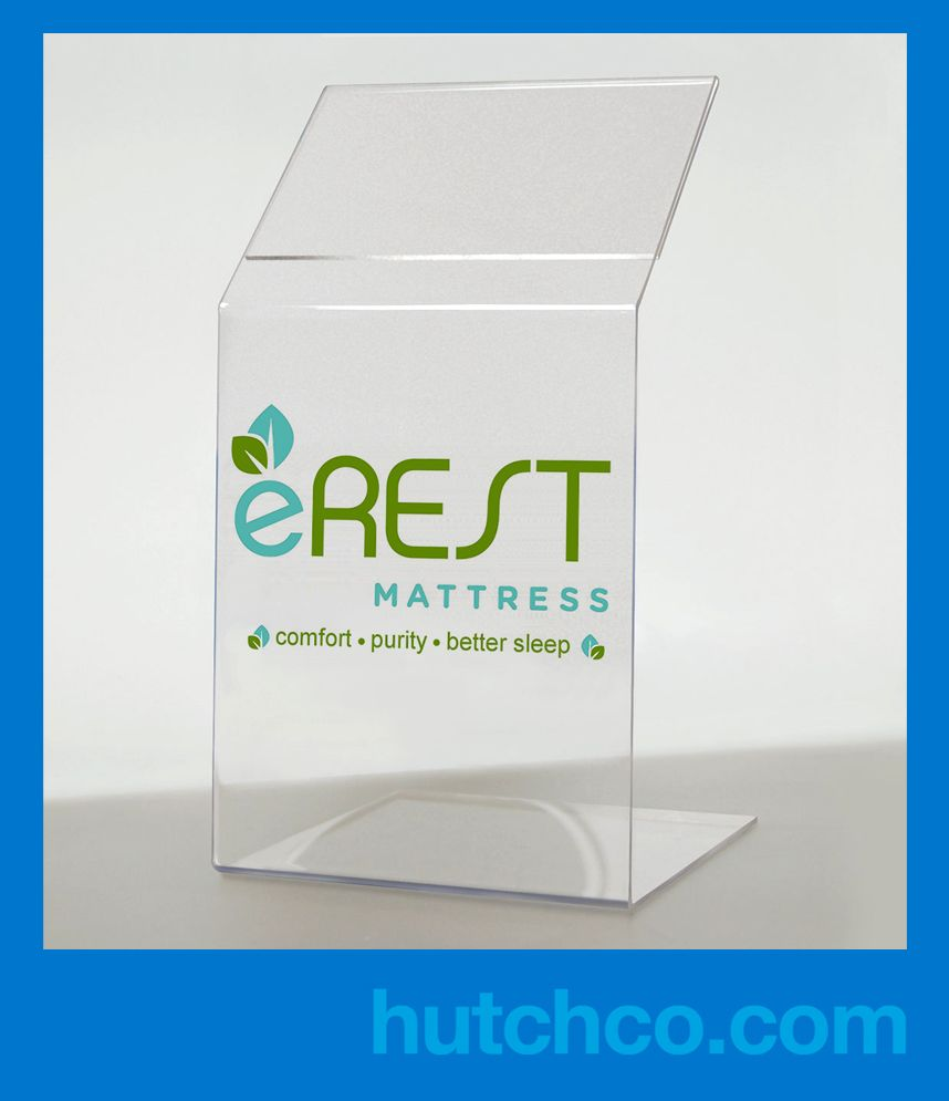 Acrylic Mattress Footer Display – (price sign holder for end of the ...