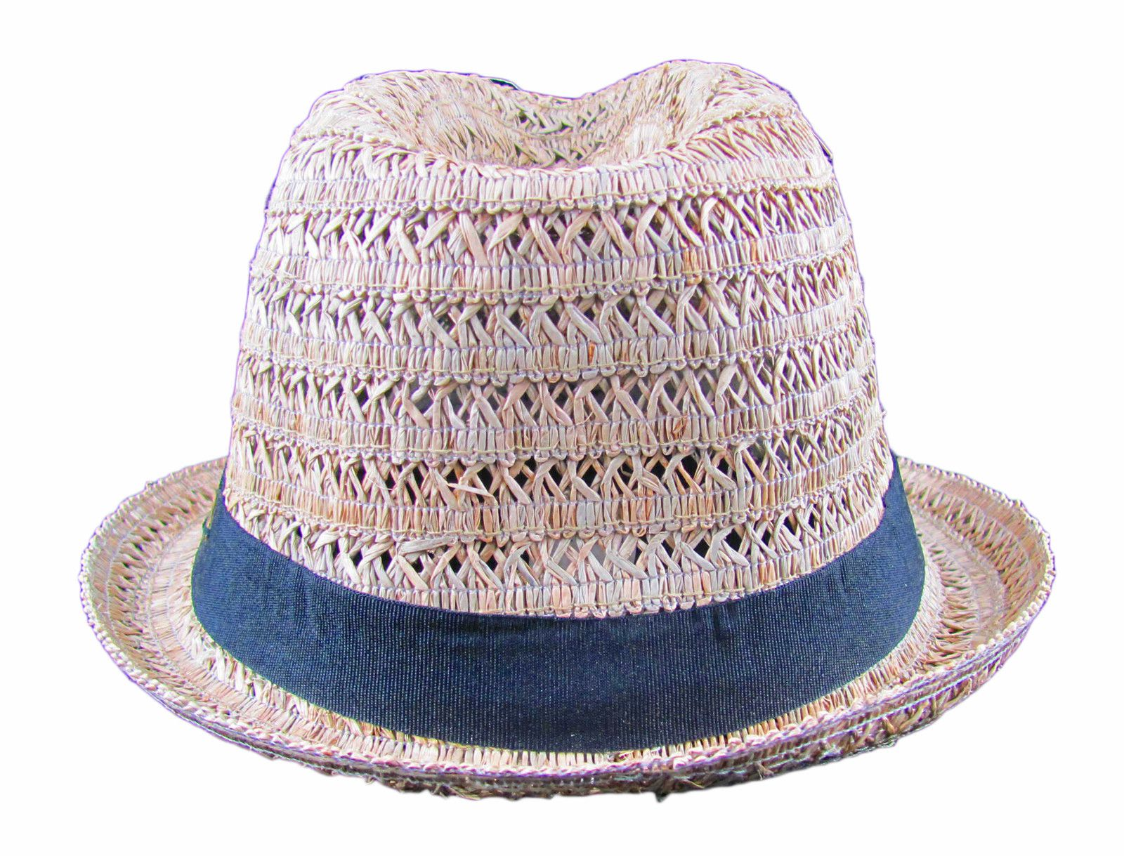 Panama Jack Mens Designer Straw Fedora Hat with Black Band -- Choose Size!  78da570ba74