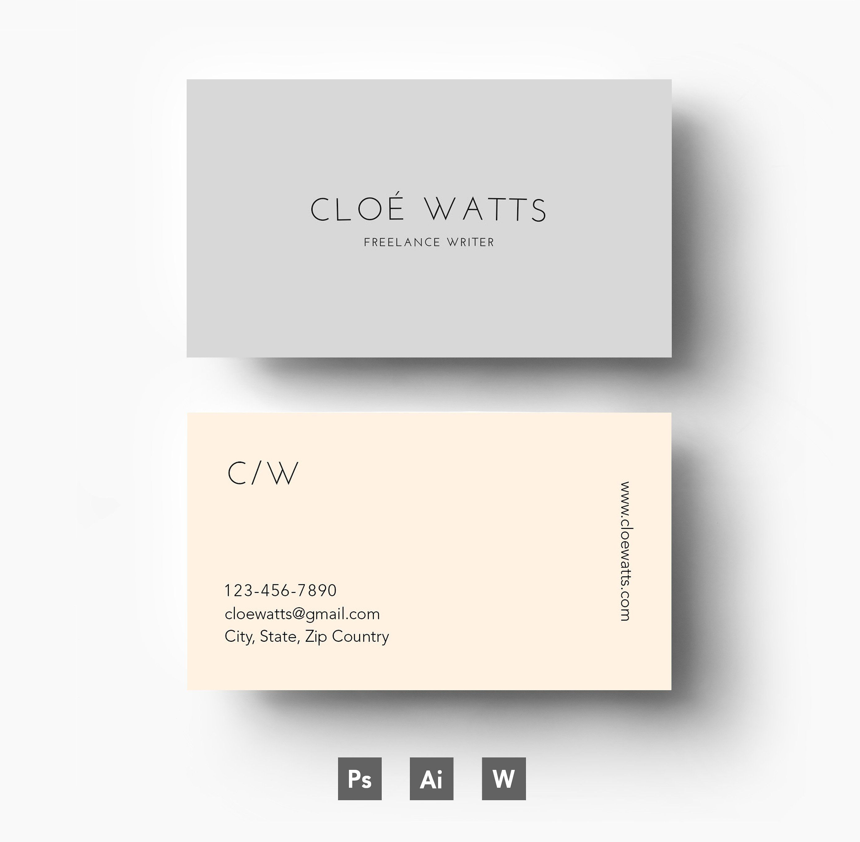 modern business card template business cards 1