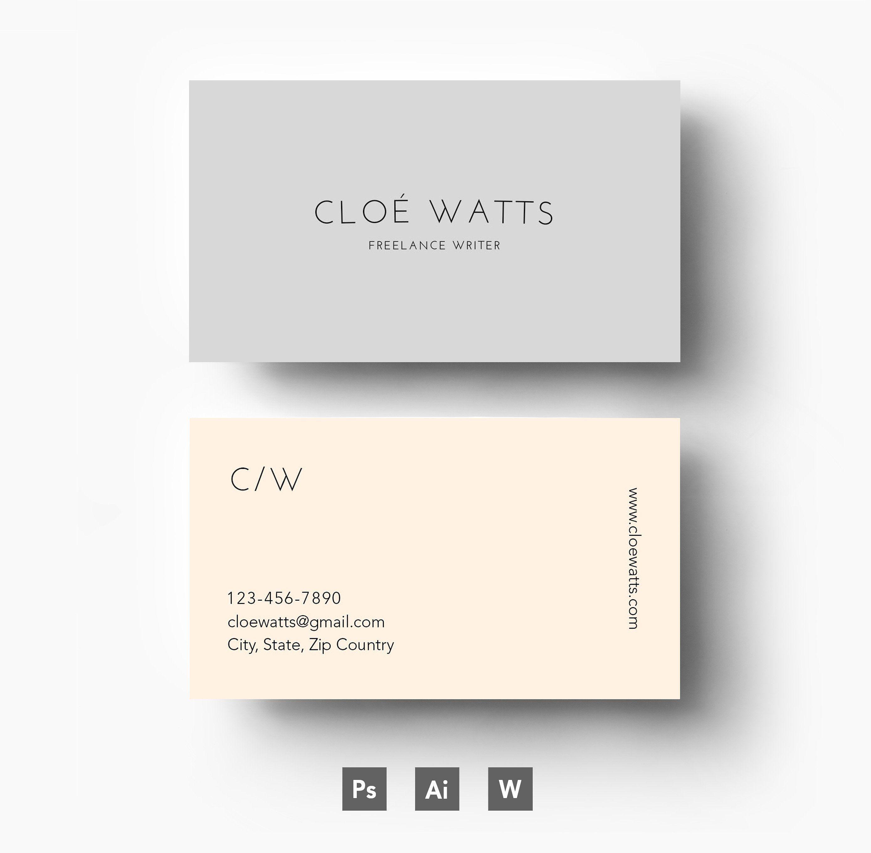 modern business card template business cards 1