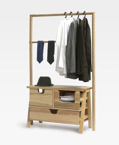 Вешалка для верхней одежды на ножках / современная / деревянная 7-DAY-CLOSET by Jakkapun Charinratana STUDIO248