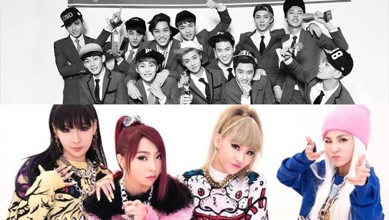 EXO and 2NE1 make top 10 of Billboard's '2014 World Albums Artists' list | http://www.allkpop.com/article/2014/12/exo-and-2ne1-make-top-10-of-billboards-2014-world-albums-artists-list