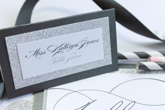 Elegant Wedding Name Tags