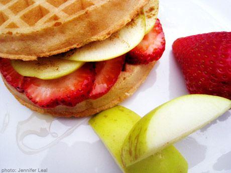 Fruity Gluten-free Waffle Breakfast Sandwich