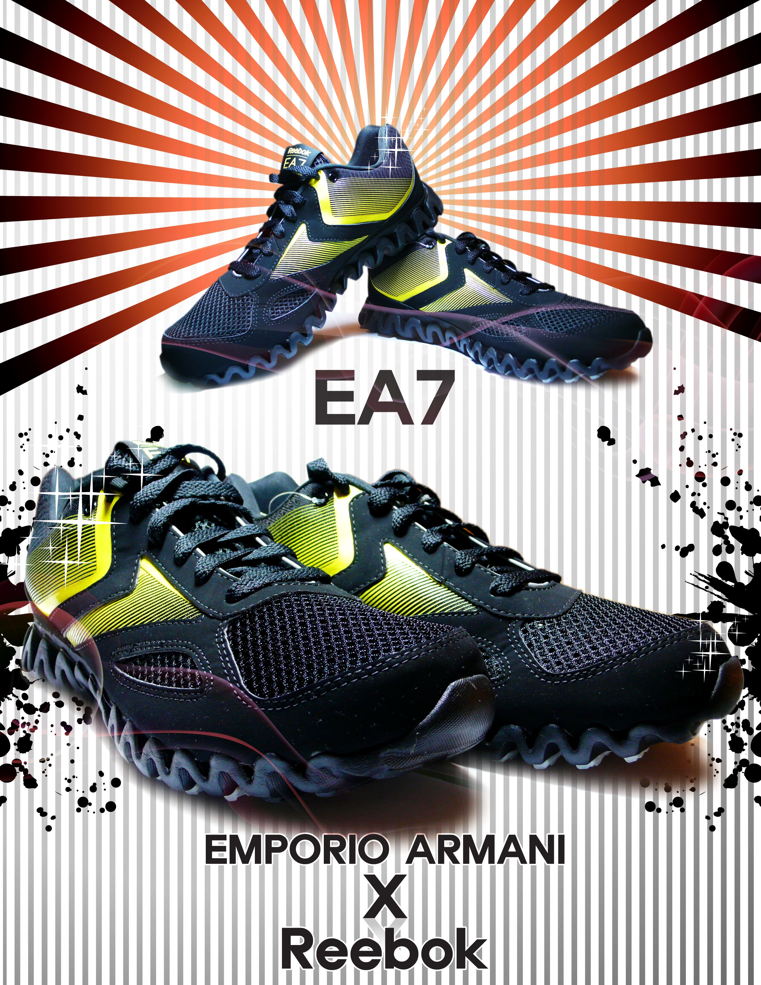 Emporio Armani X Reebok Zig Racer + EA7 Runner   Shoe collections ... b9238f36a186
