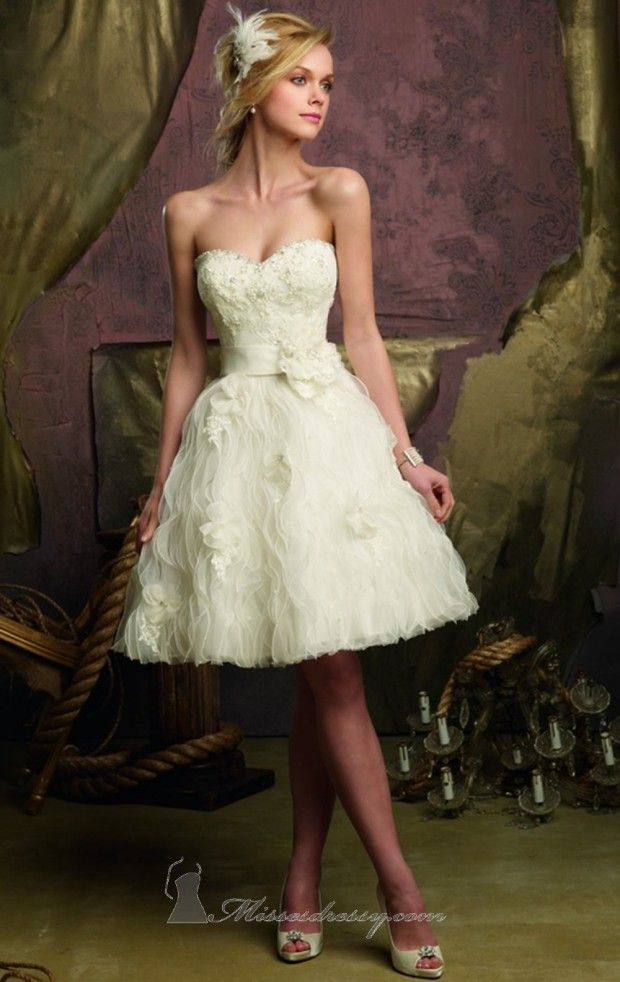 Dresses Wedding Short Beautiful 23 Brudekjole Korte Kjoler WP71v