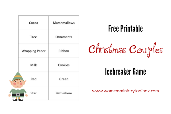 graphic relating to Free Printable Women's Party Games identified as Xmas Partners Icebreaker Sport Womens Ministry