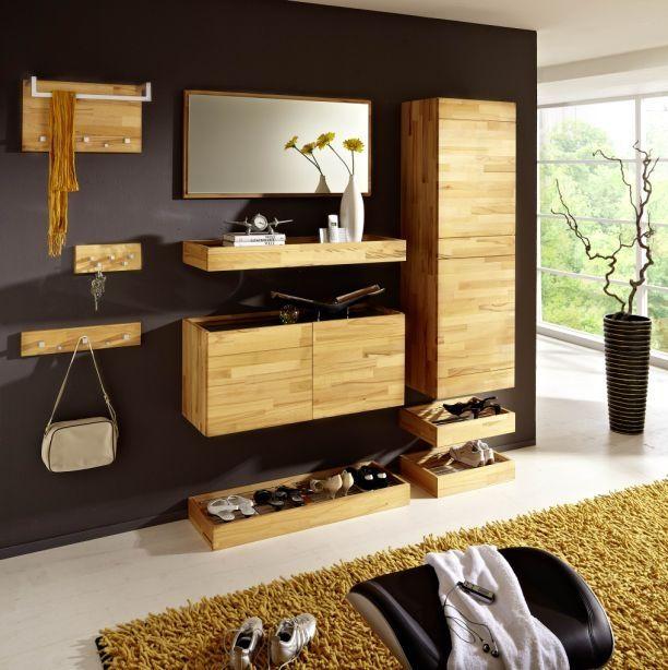 freeline garderobenset i kernesche diele flur massivholz massivholzm bel pinterest. Black Bedroom Furniture Sets. Home Design Ideas