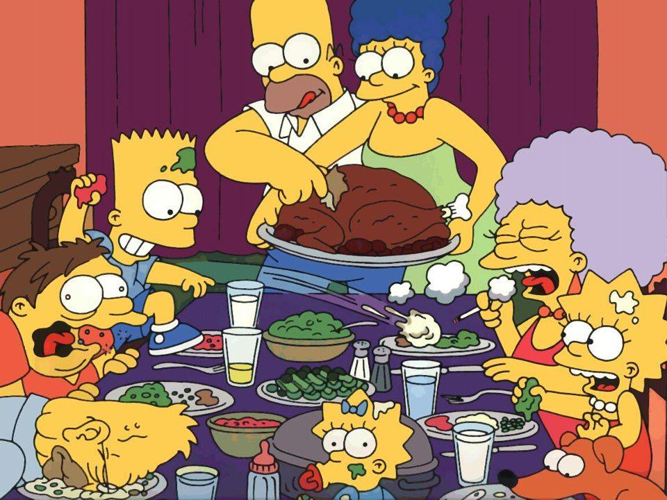 Thanksgiving Meal Cards | Los simpson, Los simpsons, Vamos a bailar
