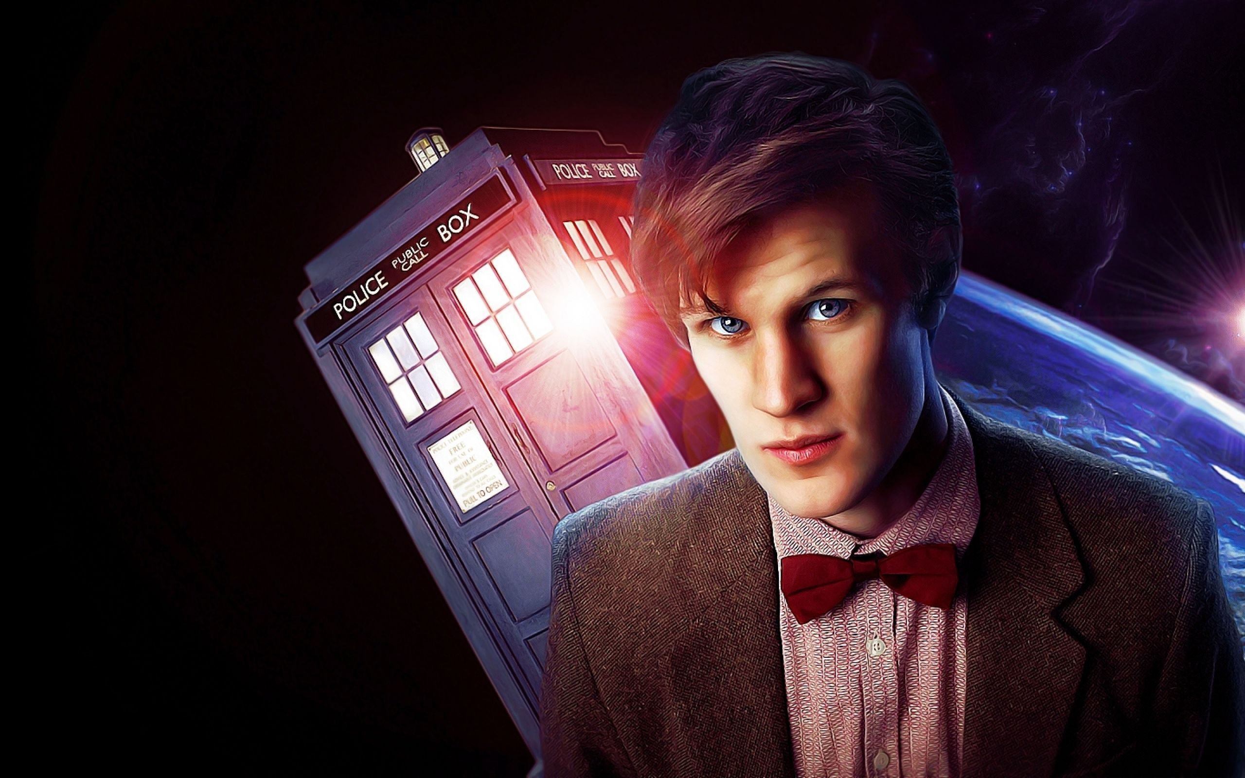 Tardis Matt Smith Eleventh Doctor Doctor Who 1600x900 Wallpaper