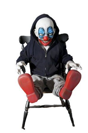 GIGGLES CLOWN Halloween Haunted House Animated Prop New - halloween haunted house ideas