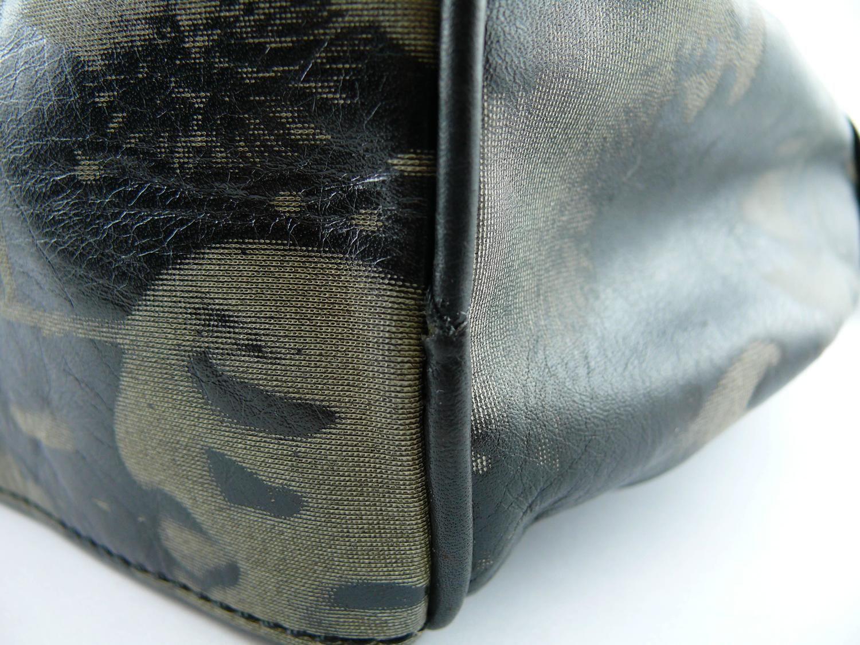 c93fca0159 Jean Paul Gaultier Vintage Retro Dietrich Print Leather Shoulder Bag