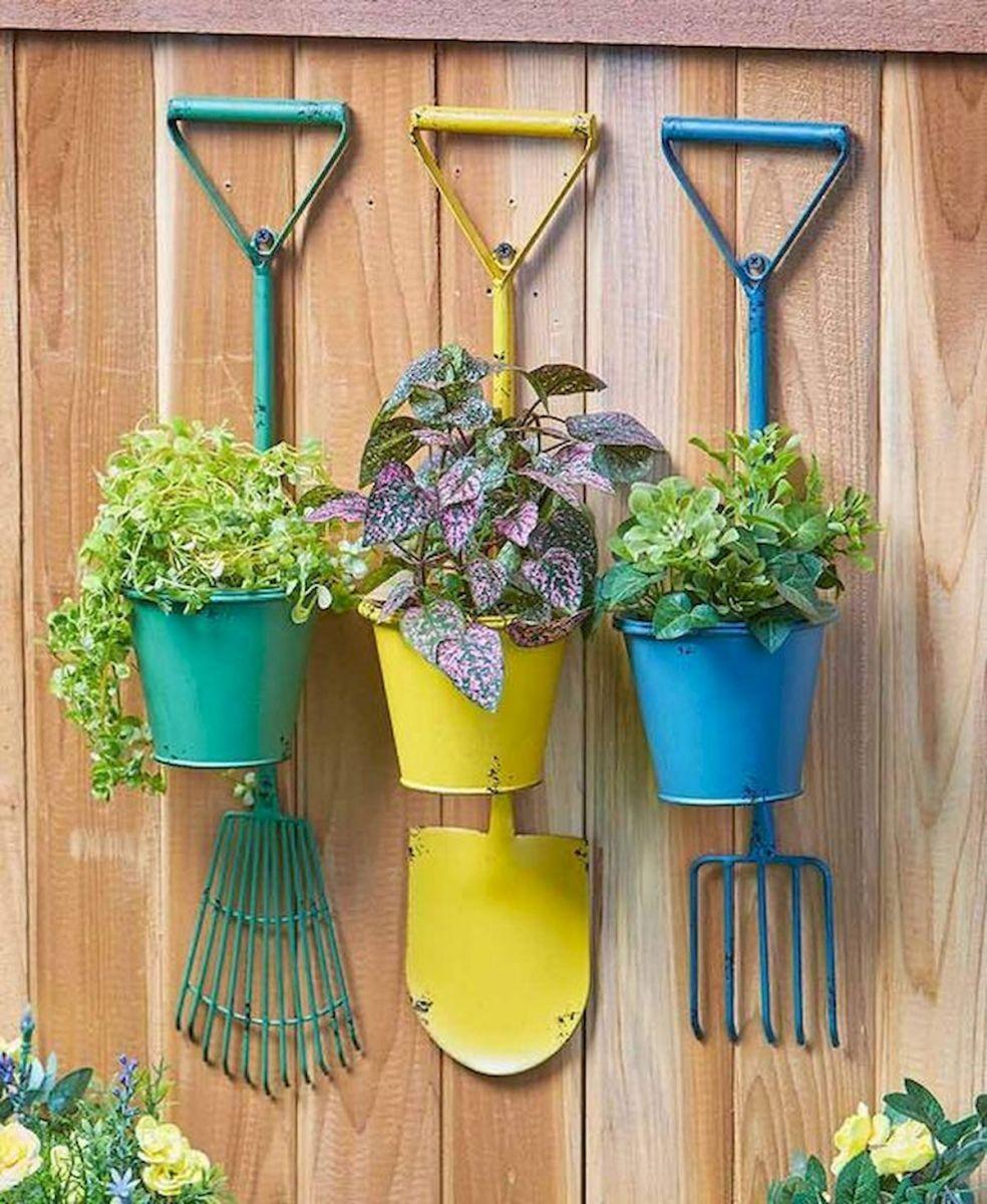 33 Easy Diy Garden Art Design Ideas 33decor Diy Garden Garden Art Hanging Herb Garden