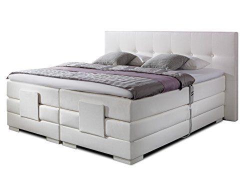 Produktbild Luxus Boxspringbett In Weiss Elektrisch Verstellbar