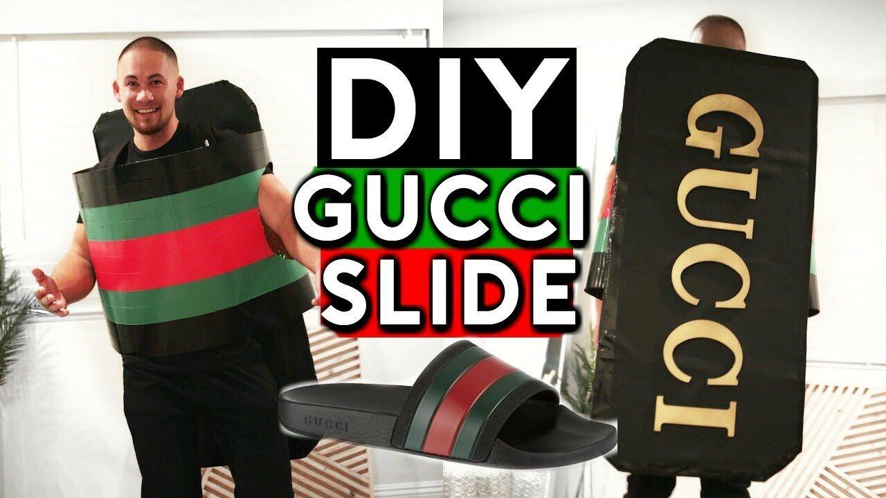 0d85973e6d09e5 DIY GUCCI FLIP FLOPS HALLOWEEN COSTUME