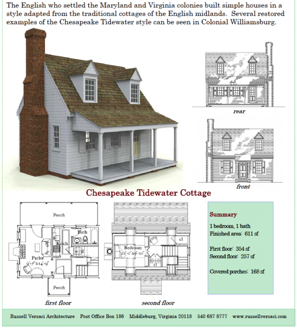 Russell Versaci S Simple Cottage Plans Cottage Plan House Plans Tiny House Plans