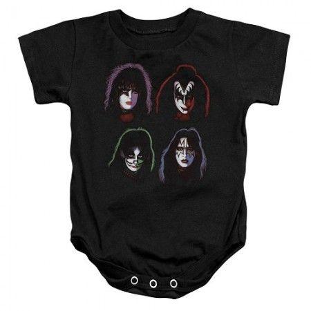 Kiss Solo Albums Baby Onesie - Kiss Merchandise
